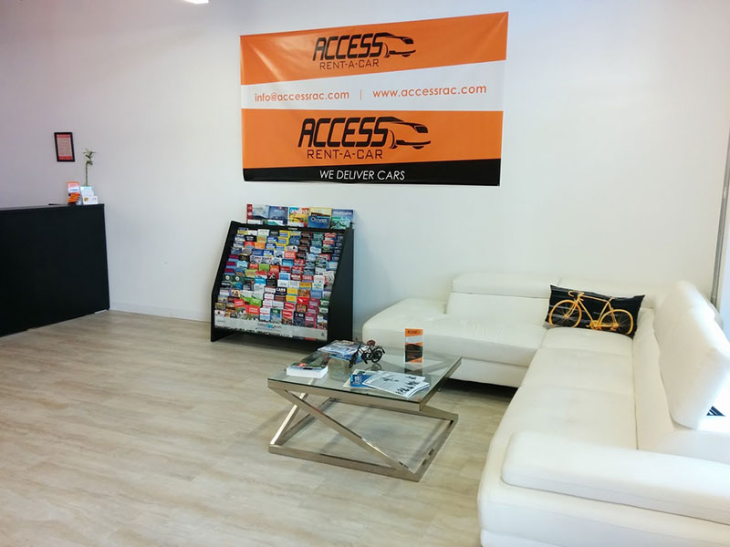 Waiting Area For Clients To Rent Car In